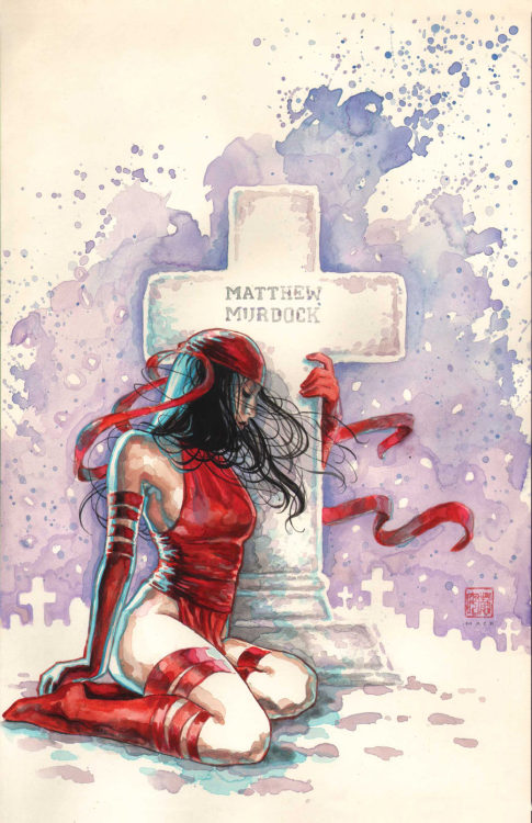 Variant cover by David Mack for Daredevil: End of Days #3.