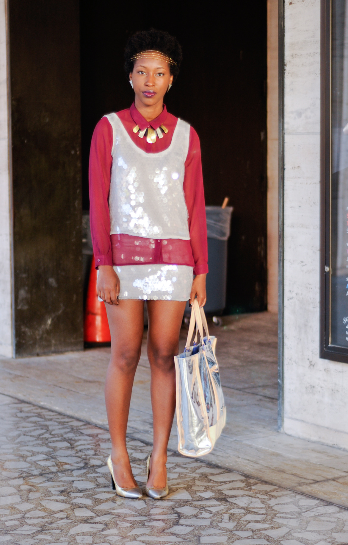 The very chic, Athana Elle Paul at NYFW SS2013.