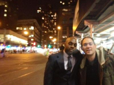Phillip Martin & me kicking it in New York City last friday night after visiting the Whitney Museum. Photo taken by Theresa O'neiL Walsh..