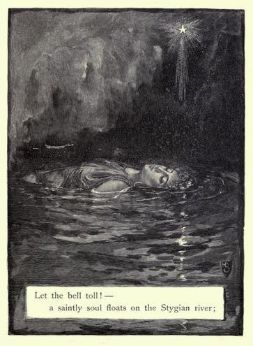 "Poe's ""Lenore"", illustrated by Henry Sandham, 1886(source)"