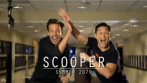 hitrecordjoe:  SCOOPER — IN THEATERS SUMMER 2079! :oD  Lol :D