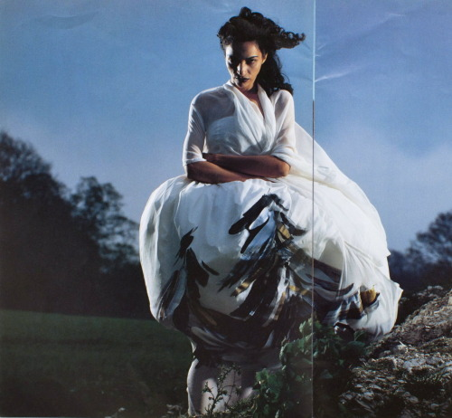 "spring1999:  six nº 8 1991 ""sixth sense"" farida khelfa photographed by brian griffin"