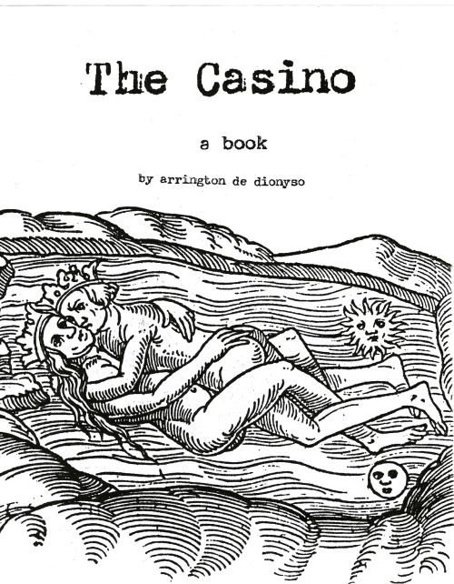 "You can read ""The Casino,"" a short book written by Arrington de Dionyso in 1997, in full here. Some background from the author himself…  ""In 1997 in the throes of an extremely difficult break up and divorce, I started writing a short book called THE CASINO. It's a wild and rambling read that was written incredibly quickly, as if taking dictation from a source outside myself. At the time I photocopied 20 or so copies to give to friends. Some of the motifs in certain passages later became the inspiration for songs performed by Old Time Relijun (such as The Casino, of course!). In the middle of writing this extremely sad and surreal break up story, I also spent two weeks in Bolivia volunteering for a Doctors Without Borders medical mission! I've always hoped to return to this book somehow and create a ""final edit"" but still never have. I'm just now finally posting this so that anyone interested can just have a read for themselves.""  Arrington is also on tour in a major way right now: he starts in Olympia next week and continues traveling until November, taking on most of the country. See his dates here."