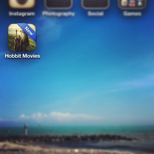 Well of course I downloaded this app. #duh #lordoftherings #thehobbit #nerdgasm  (Taken with Instagram)
