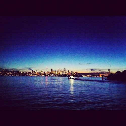 Sydney By night (Scattata con Instagram presso Manly ferry)