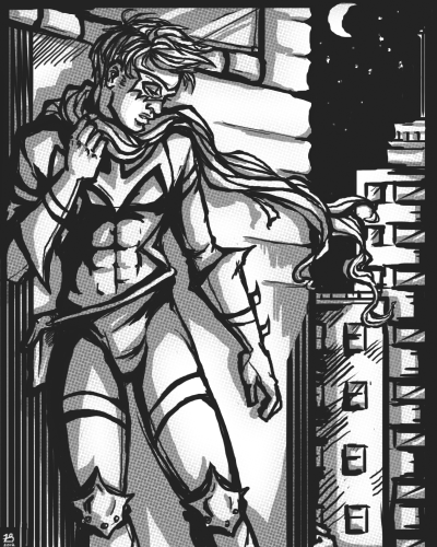 ali's precious superhero character - midnighti discovered halftone (8planned for my lithograph