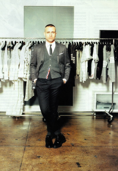 bebuckskin:  Thom Browne. @ his studio NYC.  www.buckskin.tumblr.com