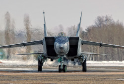 Mikoyan MiG-31 (Russian: Микоян МиГ-31; NATO reporting name: Foxhound)