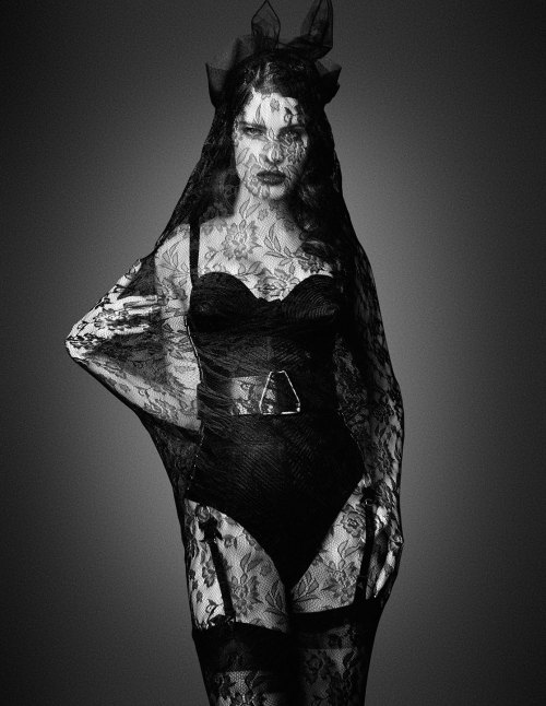 Fashion Halloween suicideblonde:  Isabeli Fontana photographed by Daniele + Iango for i-D, Fall 2012