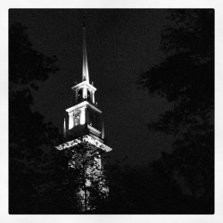 jsarinanaphotos:  #harvard #tower #bw #iphonography #night (Taken with Instagram)  Memorial Church, lookin' fine.