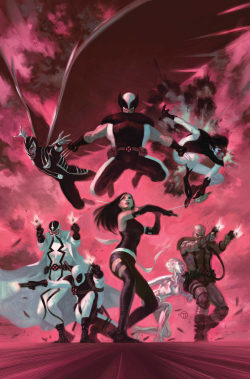 amazingironfist:   UNCANNY X-FORCE #35RICK REMENDER (w) • PHIL NOTO (a)Cover by JULIAN TOTINO TODESCOVariant cover by Simone BianchiFINAL ISSUE!• FINAL EXTINCTION CONCLUDES AND SO DOES UNCANNY X-FORCE!• Rick Remender's landmark run comes to a conclusion with one of the most shocking moments in X-Force history.• What will become of what's left of X-Force?32 PGS./Parental Advisory …$3.99  Oh man. Last Uncanny X-Force issue. Gonna be great.