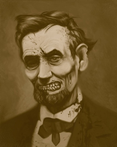 """Zombie Presidents"" painting series by Jeremy Plemon"