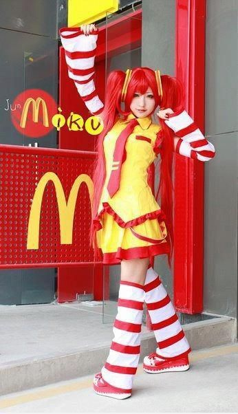 Did you know that miku work in McDonald?