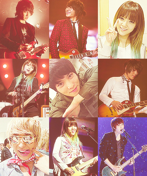 FNC Artists: Lead Guitarists- Jonghyun, Jonghun, Jimin