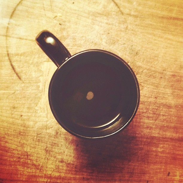 My #coffee cup runneth over. This is a (very) good thing.  (Taken with Instagram)