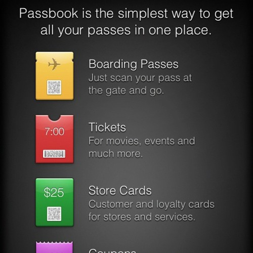 Hey iOS6 peeps. How do you work this??? #passbook (Taken with Instagram)