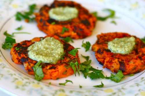 theroadtohealthyliving:  Indian Spices Sweet Potato Patties