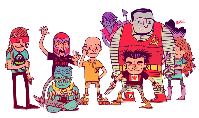 """The Uncanny X-IES"" art by Dan Hipp"