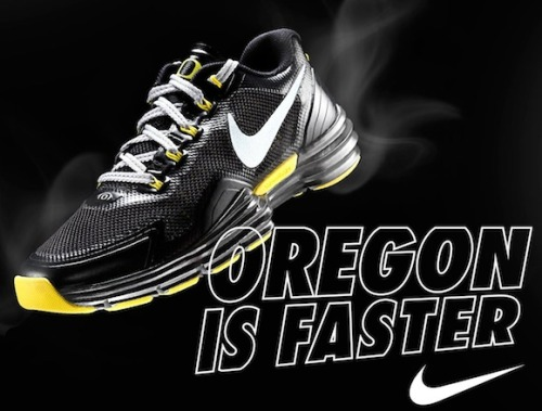 Oregon Football: Black Nike Lunar TR1 Shoe Revealed via Nike Blog The Nike Blog gave us a beautiful sight late this evening with the unveiling of yet another new Oregon Ducks shoe. The University of Oregon program has continued their extraordinarily close relationship with Nike, this time producing another exciting pair of absolutely awesome shoes. They look pretty awesome if you ask me.  For a preview of the shoes, click here or click this photograph. The Oregon Ducks fans have been told to wear all black to pack Autzen Stadium this Saturday, and the last time Oregon announced a pair of shoes (Nike TR1s) before a game, the team wore matching uniforms for the weekend showdown. Could these be a preview for what's to come for the Oregon Ducks jerseys this weekend? What do YOU think of these shoes? #GoDucks