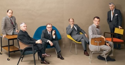 OMG - George #Nelson, Edward #Wormley, Eero #Saarinen, Harry #Bertoia, Charles #Eames and Jens #Risom, Playboy Magazine (via PRIVATE » Blog Archive » COOLEST BUNCH EVER!!!)