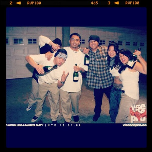 Gangsta party 2009 NYE w/ @jonahpavon @viseonepro @remywildandfree  (Taken with Instagram)