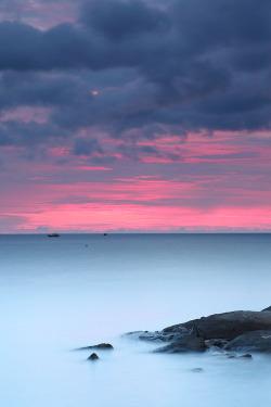 landscape nature beach colourful ocean sea sunset Scenic horizon vertical
