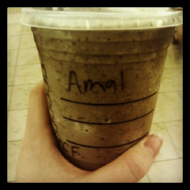 My #new #name on #Starbucks, #nice #Amal  (Taken with Instagram)