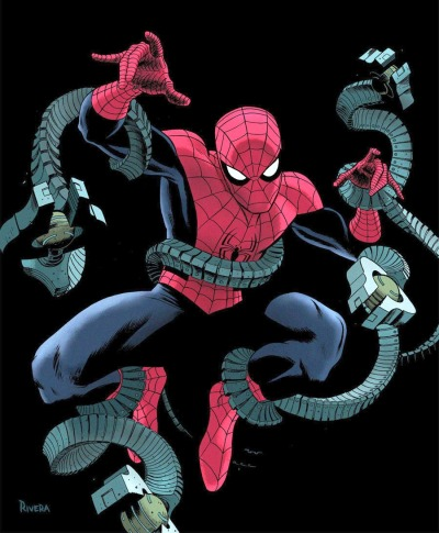 brianmichaelbendis:  Paolo Rivera's cover for Amazing Spider-Man #699.