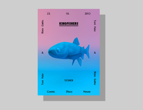 Poster Design for Kingfishers Club night taking place at Club Siltanen