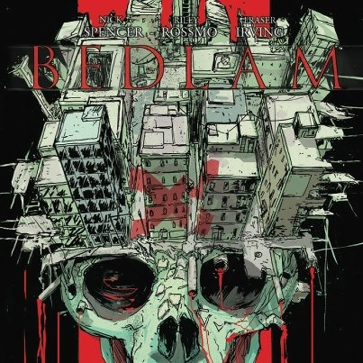 THIRD EYE SNEAK PEEK: BEDLAM #1 Third Eye Variant — Available at Day 1 of HALLOWEEN COMIC-FEST with creators NICK SPENCER (MORNING GLORIES, INFINITE VACATION, ULTIMATE X-MEN, THIEF OF THIEVES) and RILEY ROSSMO (DEBRIS, GREEN WAKE, COWBOY NINJA VIKING)! This is the first look at the finished version of our BEDLAM X THIRD EYE variant — and it's rad!