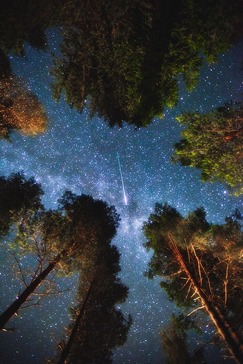 bluepueblo:  Shooting Star, Sweden photo via besttravelphotos  I like what this poem has to say about love, a love that seeks to influence, begs not to be forgotten, promising to live on even if it's not returned.  Not for the happy ending idealists but such simple beautiful language.   When You Are Old When you are old and grey and full of sleep And nodding by the fire, take down this book, And slowly read, and dream of the soft look Your eyes had once, and of their shadows deep; How many loved your moments of glad grace, And loved your beauty with love false of true; But one man loved the pilgrim soul in you, And loved the sorrows of your changing face. And bending down beside the glowing bars, Murmur, a little sadly, how love fled And paced upon the mountains overhead, And hid his face amid a crowd of stars. ~William Butler Yeats