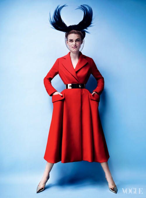Keira Knightley: Poise and Passion - Vogue by Mario Testino, October 2012