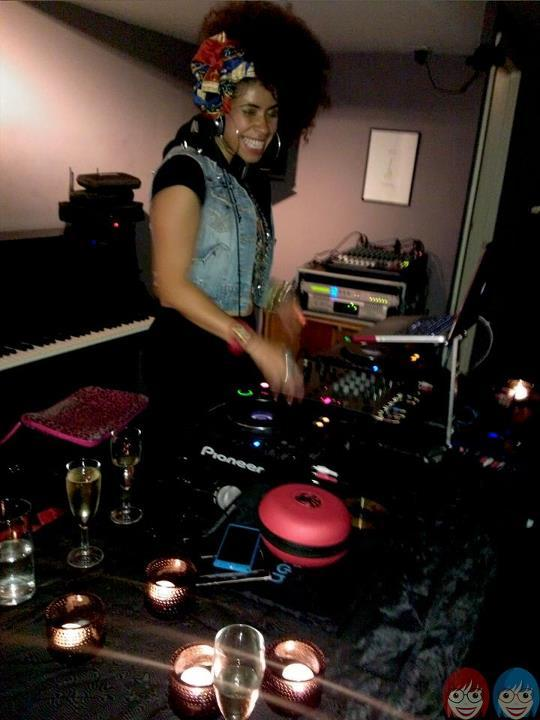 The very talented DJ Melody Kane on her decks!