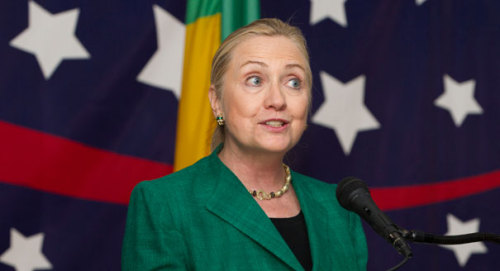 """Hillary Clinton pwns Aaron Sorkin:  Secretary of State Hillary Clinton says when she visited Burma, the speaker of the lower house there asked her for help learning how to be a democratic congress. """"He went on to tell me that they were trying to teach themselves by watching old segments of 'The West Wing,'"""" Clinton said Wednesday during a congressional ceremony for Burmese democracy leaderAung San Suu Kyi.""""I said, 'I think we can do better than that, Mr. Speaker.'"""""""