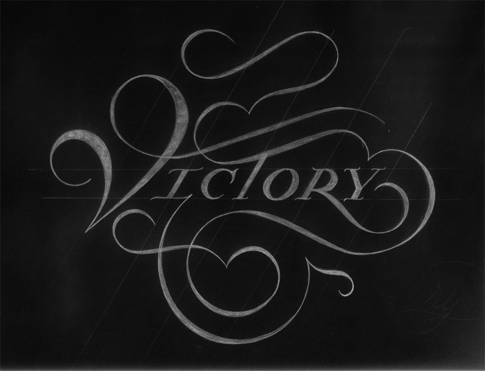 typeverything:  Typeverything.com Victory by Drew Melton.