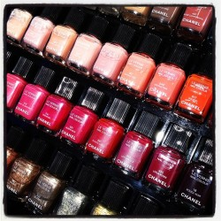 Lots of @chanel polishes. #chanel #nailpolish #nails #heaven  (Taken with Instagram)