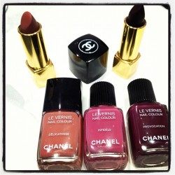 The new #fno nail polishes and lipsticks #nailpolish #nails #lipsticks #chanel #hk (Taken with Instagram)