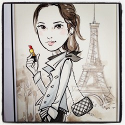That's me! Beautified! #chanel #hk #event #drawing #paris #art  (Taken with Instagram)