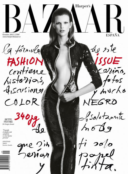 Harper's Bazaar Covers Spain October 2012