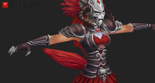 WIP Update! This is a work in progress of a low poly armor model as seen on one of the BitGem 2D Concepts. It will fit Low Poly Aleysha.