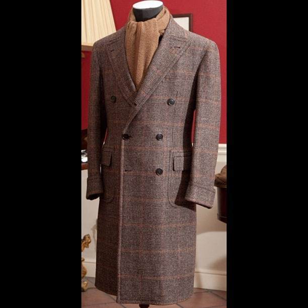 Fall is here gents… Invest in a good coat/jacket #tweedcoat #menswear  (Taken with Instagram)