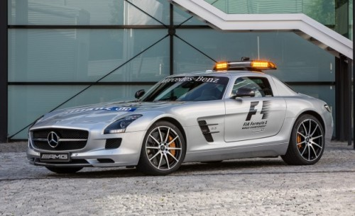 The 2013 Mercedes-Benz SLS AMG GT takes over F1 safety car duties for last year's, uh, non-GT SLS AMG pace car. via Car and Driver