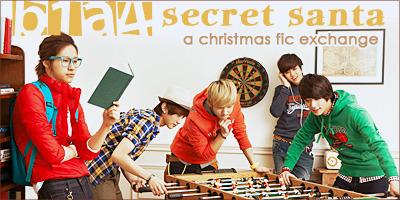 bethe1all4one:   B1A4 Secret Santa, a Christmas fic exchange! (After all, what's better than a fanfiction about your favorite boys written just for you? :D) Click on the photo to sign up! Find us at the B1A4SS community at Livejournal.com! FAQ | Sign up  For any writers out there :)