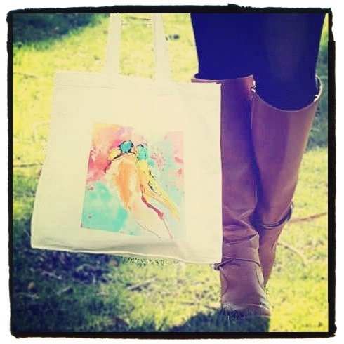 Lovers Tote Bag! From the photoshoot @Monochroma_Chic aka Kristy made a while ago for INVERTED COMMAS! Maybe the most romantic among our designs, LOVERS is sure one of the most successful! You can easily purchase it at our shop….before it's too late! ;)  Lovers Tote Bag available here! INVERTED COMMAS Connect with INVERTED COMMAS: ETSY FACEBOOK TWITTER FLICKR CHICTOPIA CHICISIMO PINTEREST