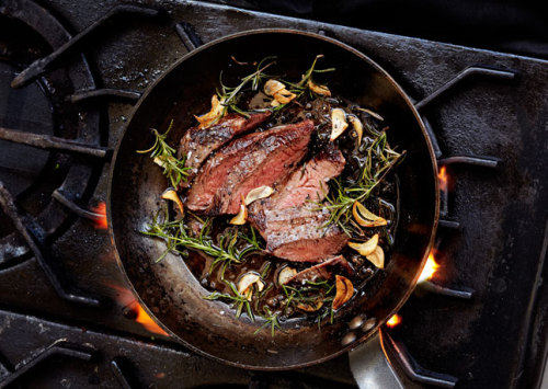 #219 Garlic-Rosemary Steak via BA