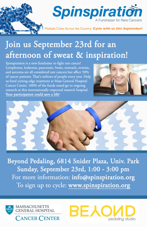 Join us for Spinspiration this weekend—get sweaty, be inspired and ride it out. More details here.