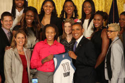 The 2011 WNBA Champion Minnesota Lynx were honored by President Barack Obama on September 18 at the White House. (Photo by Stephen Gosling/Getty Images)