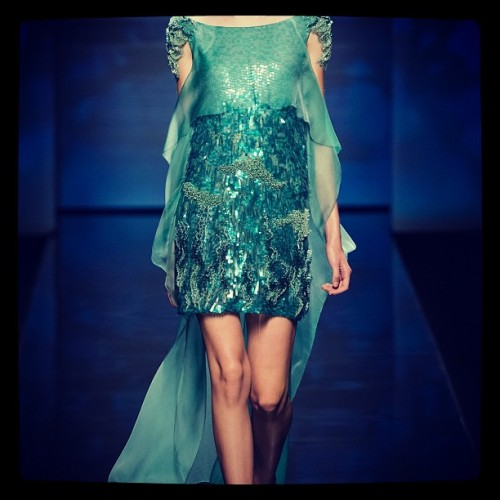 @AlbertaFerretti ss3013 = underwater glam. See more of my fav looks on www.hautecanada.com (Taken with Instagram)