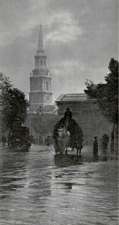 A Summer Shower, St. Martin-in-the-Fields, 1903 by F. W. Jackson