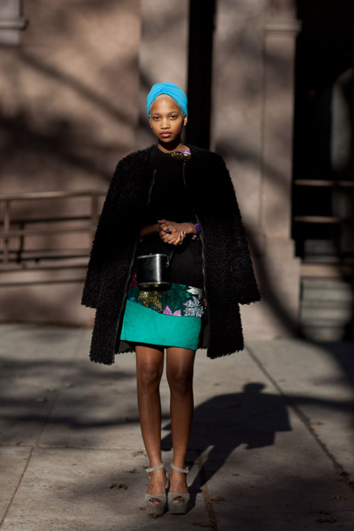 isiside:  Ni'ma Ford The Sartorialistwinter 2011